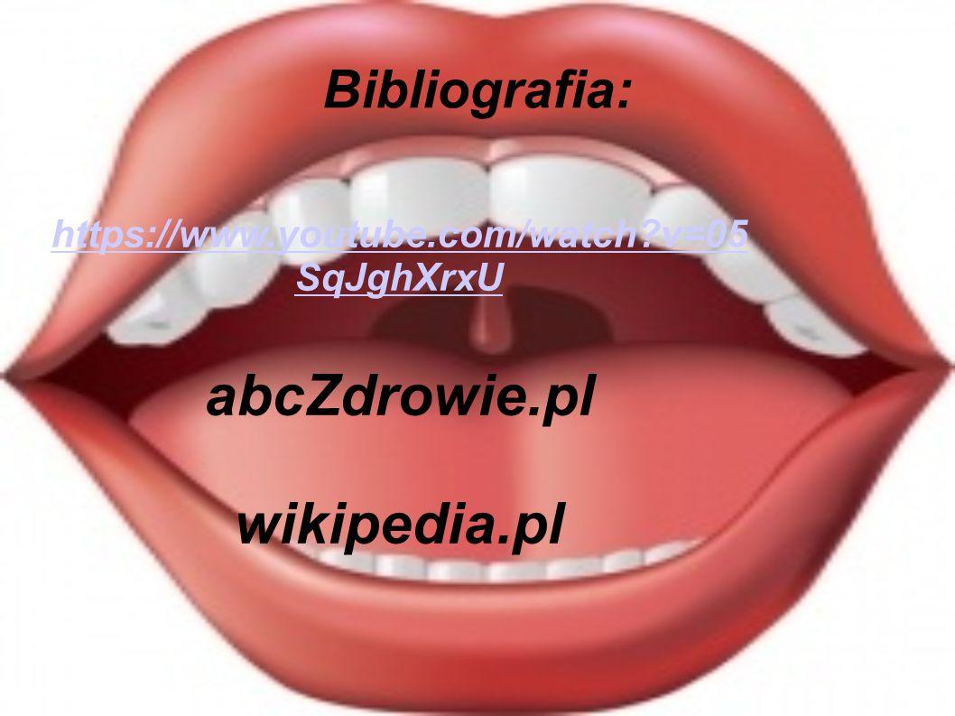 Bibliografia: https://www.youtube.com/watch?v=05 SqJghXrxU abcZdrowie.pl wikipedia.pl