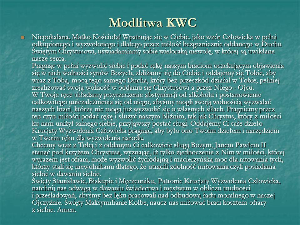 Modlitwa KWC Niepokalana, Matko Kościoła.