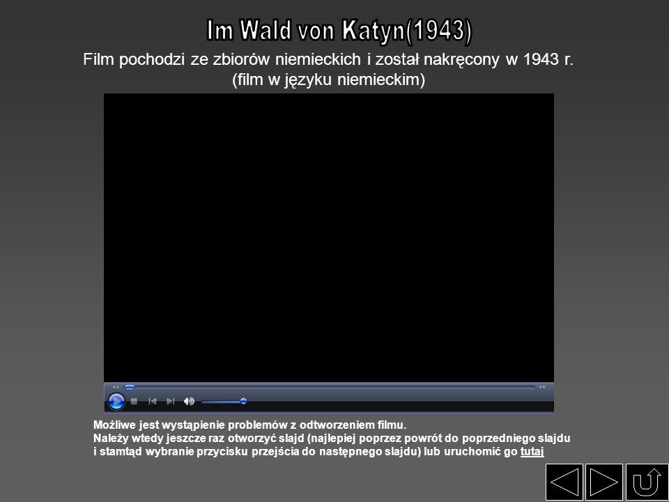 Film pochodzi ze zbiorów niemieckich i został nakręcony w 1943 r. (film w języku niemieckim) Możliwe jest wystąpienie problemów z odtworzeniem filmu.