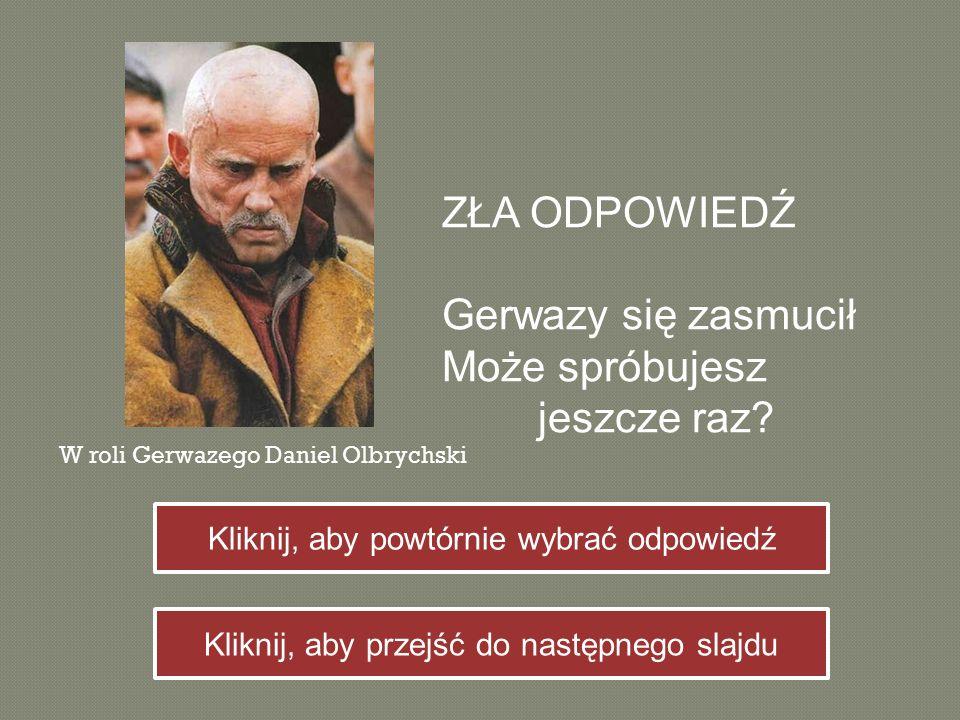 Co wręczyła Tadeuszowi Telimena.
