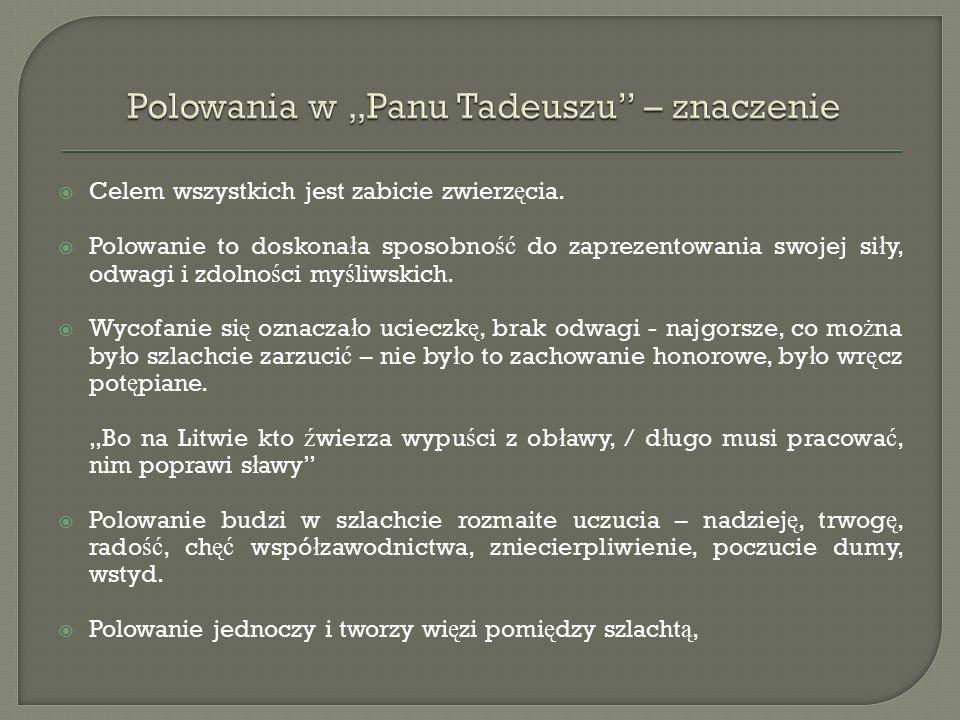 """ Umizgi bohaterów tworzą wątek miłosny w """"Panu Tadeuszu ."""