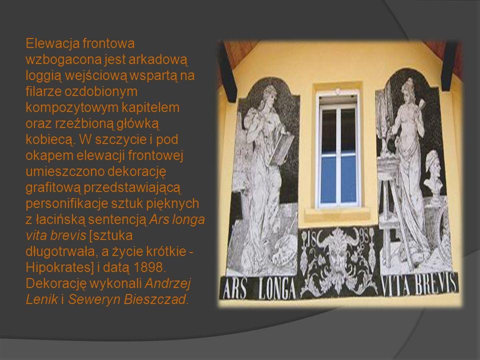 Dom rzeźbiarza Andrzeja Lenika - Krosno Projekt budynku sporządził w roku 1897 architekt Jan Sas- Zubrzycki. Dom ten prezentuje styl charakterystyczny