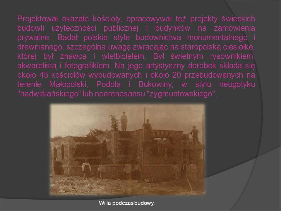Ukończył wydział architektury Politechniki Lwowskiej. Do 1912 r. pracował w Urzędzie Budownictwa w Krakowie, następnie został profesorem historii arch