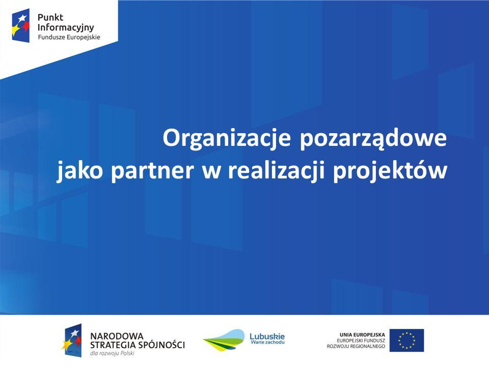 Organizacje pozarządowe jako partner w realizacji projektów