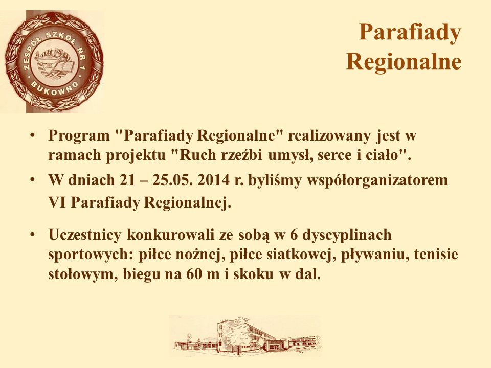 Parafiady Regionalne Program