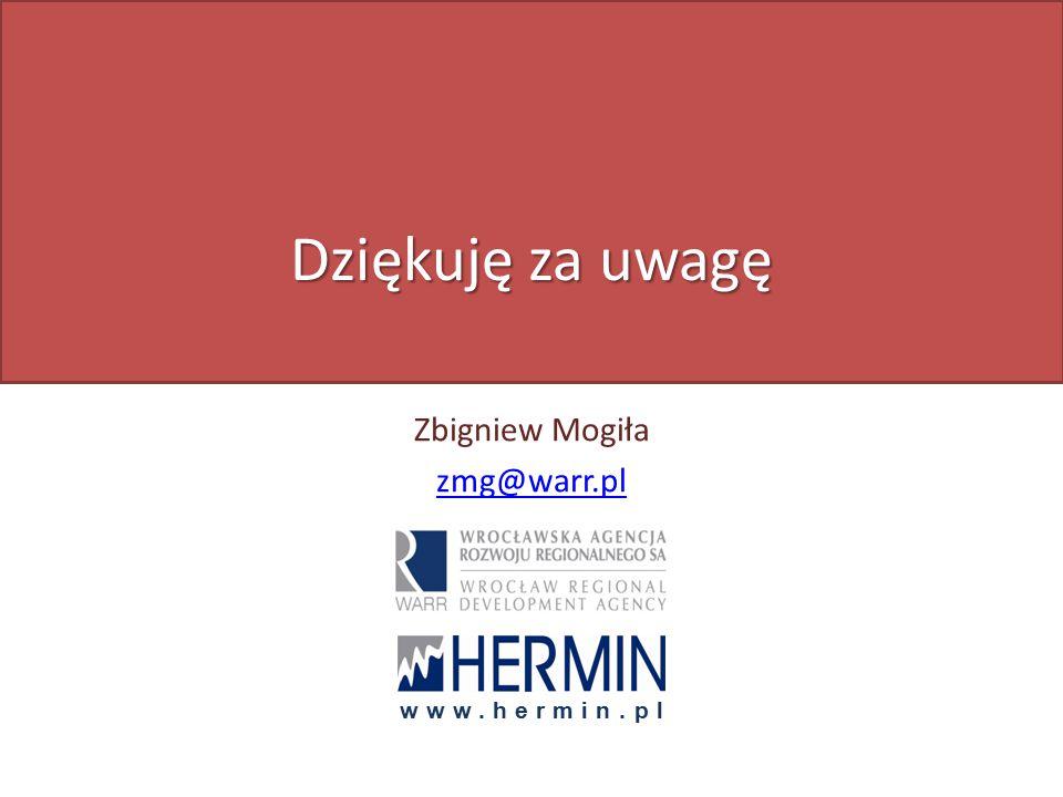 Dziękuję za uwagę Zbigniew Mogiła zmg@warr.pl www.hermin.pl