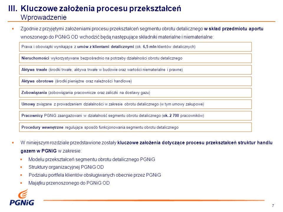 77 III. Kluczowe założenia procesu przekształceń Wprowadzenie  W niniejszym rozdziale przedstawione zostały kluczowe założenia dotyczące procesu prze