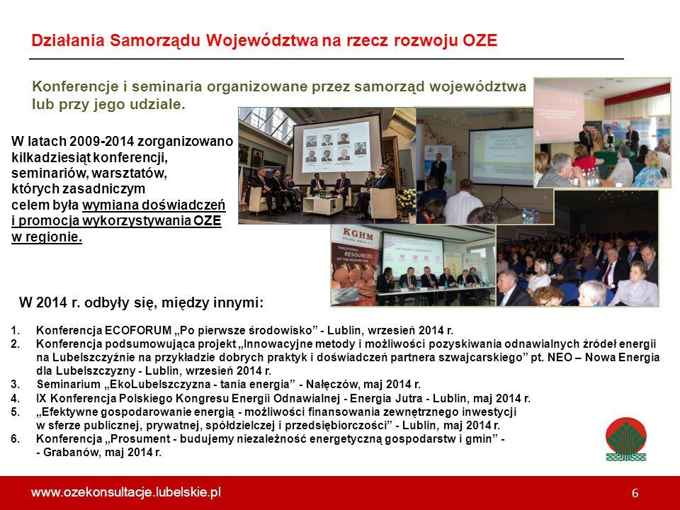 Konferencje i seminaria organizowane przez samorząd województwa lub przy jego udziale.