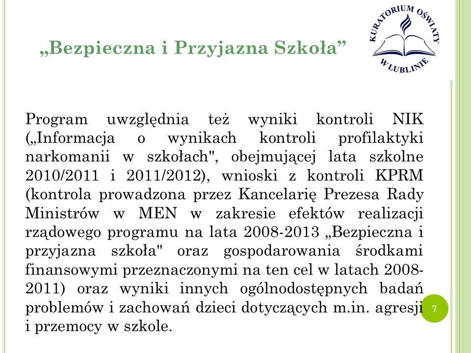 """""""B EZPIECZNA I P RZYJAZNA S ZKOŁA 9."""
