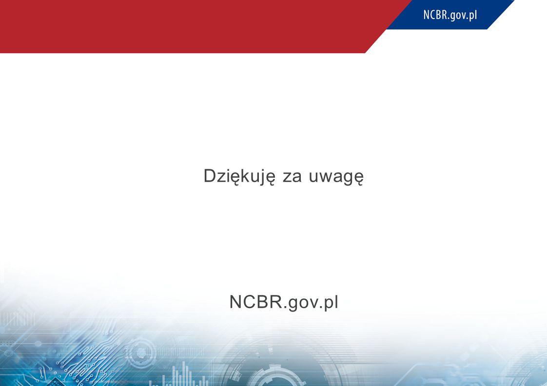Dziękuję za uwagę NCBR.gov.pl