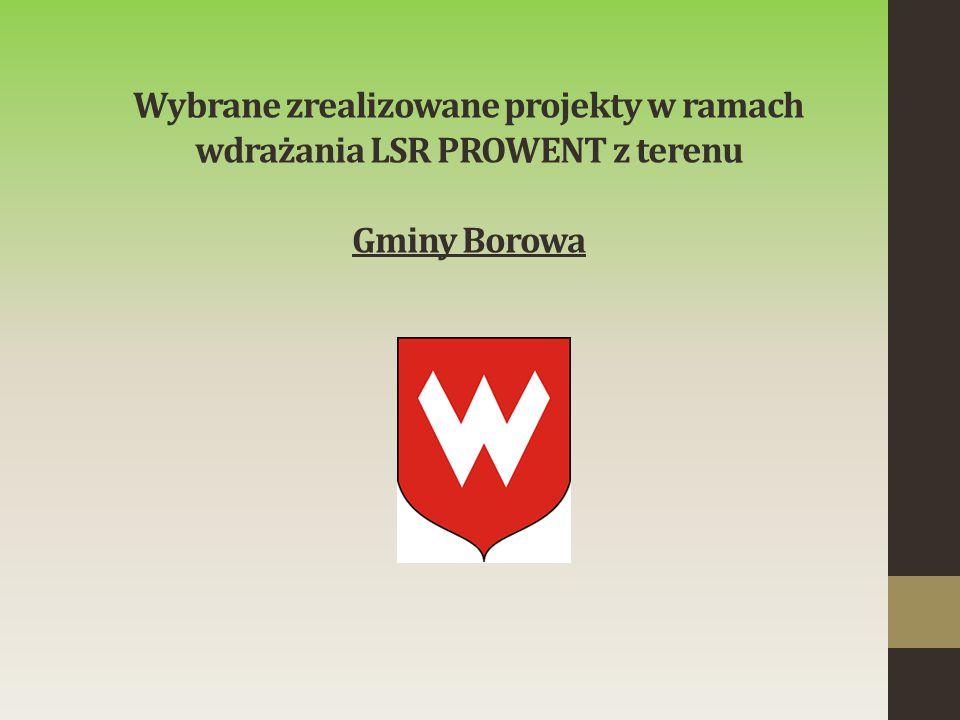 Wybrane zrealizowane projekty w ramach wdrażania LSR PROWENT z terenu Gminy Borowa