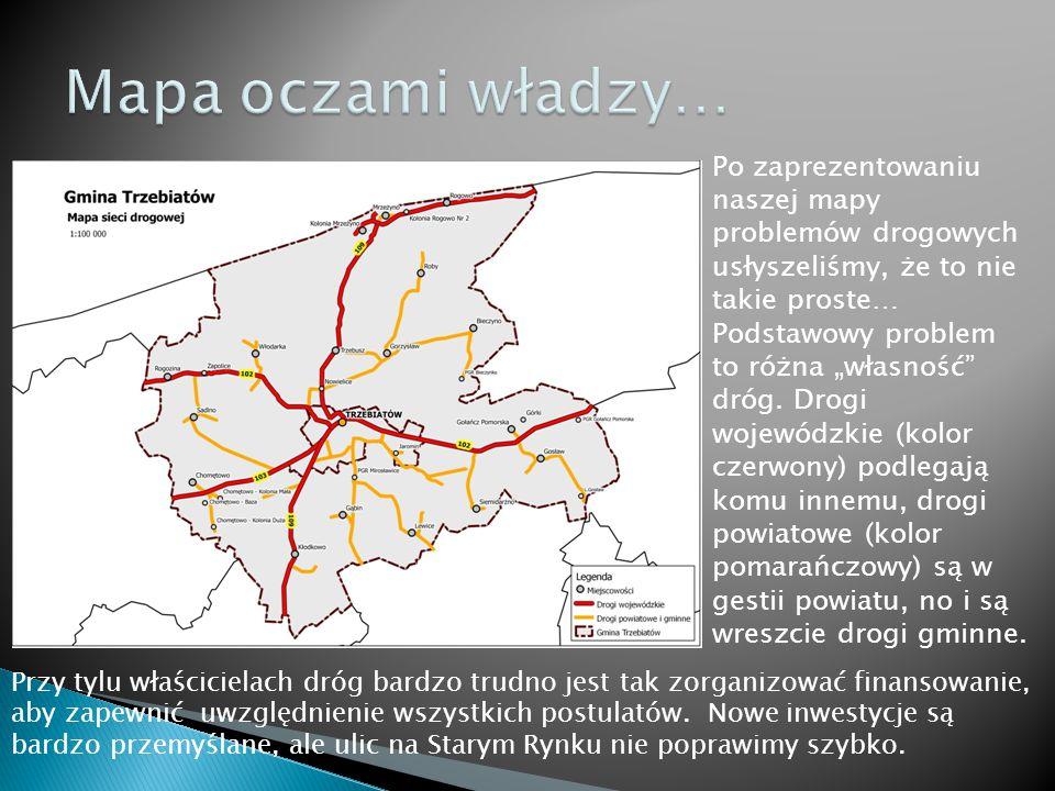 """Po zaprezentowaniu naszej mapy problemów drogowych usłyszeliśmy, że to nie takie proste… Podstawowy problem to różna """"własność dróg."""
