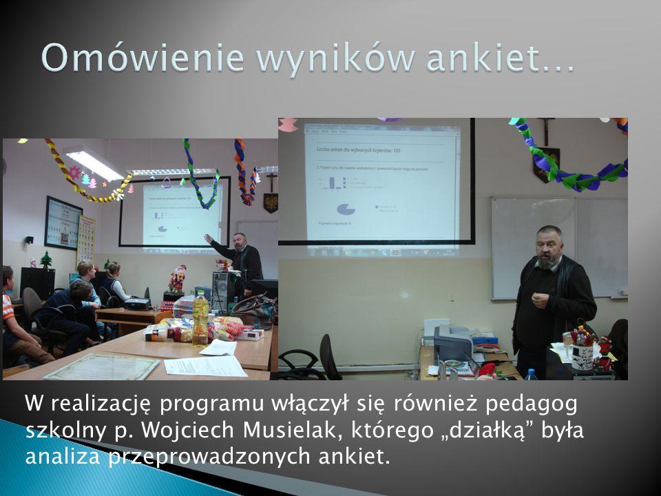 W realizację programu włączył się również pedagog szkolny p.