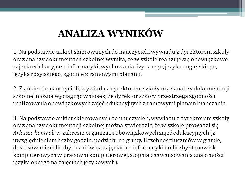 ANALIZA WYNIKÓW 1.