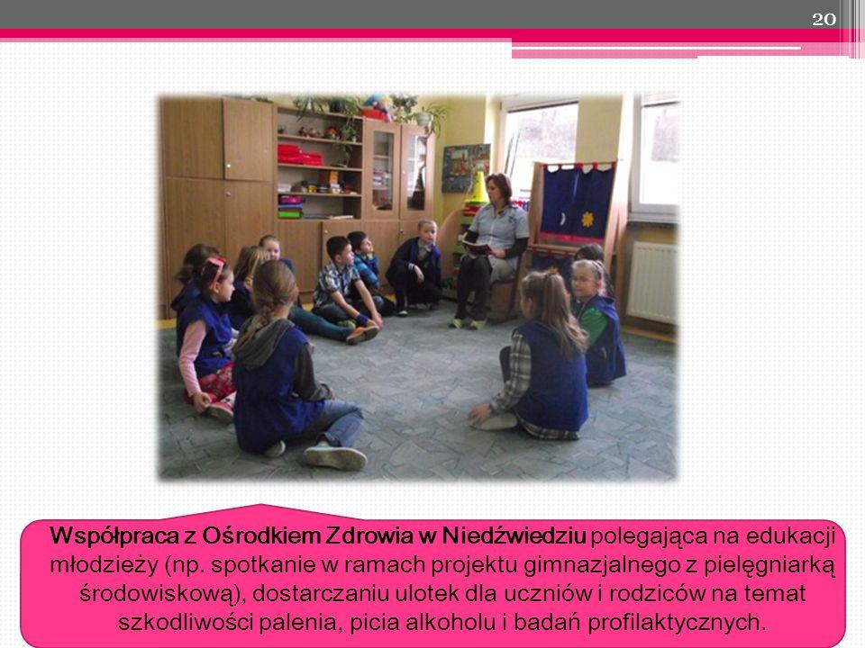 20 Współpraca z Ośrodkiem Zdrowia w Niedźwiedziu polegająca na edukacji młodzieży (np.