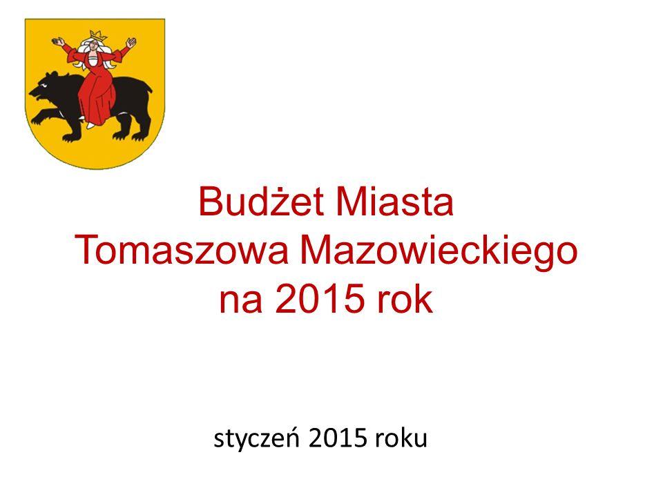 Budżet Miasta Tomaszowa Mazowieckiego na 2015 rok styczeń 2015 roku