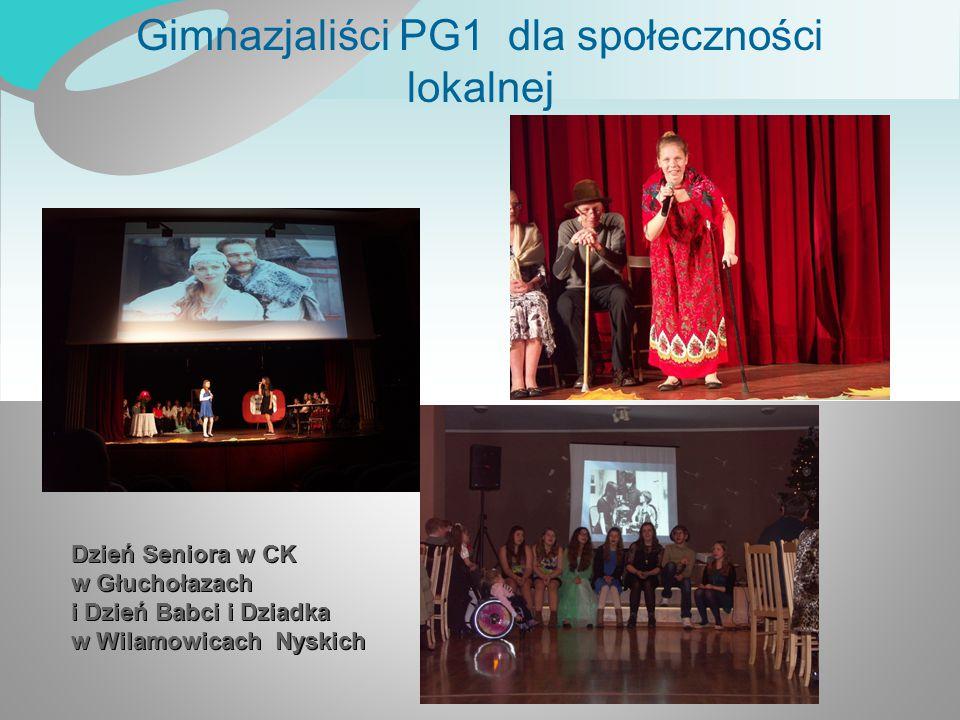 Gimnazjaliści PG1 dla społeczności lokalnej Dzień Seniora w CK w Głuchołazach i Dzień Babci i Dziadka w Wilamowicach Nyskich