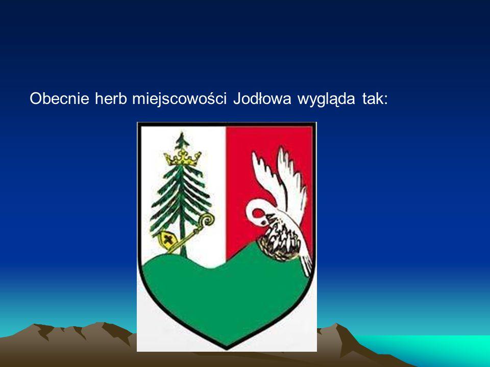 Obecnie herb miejscowości Jodłowa wygląda tak: