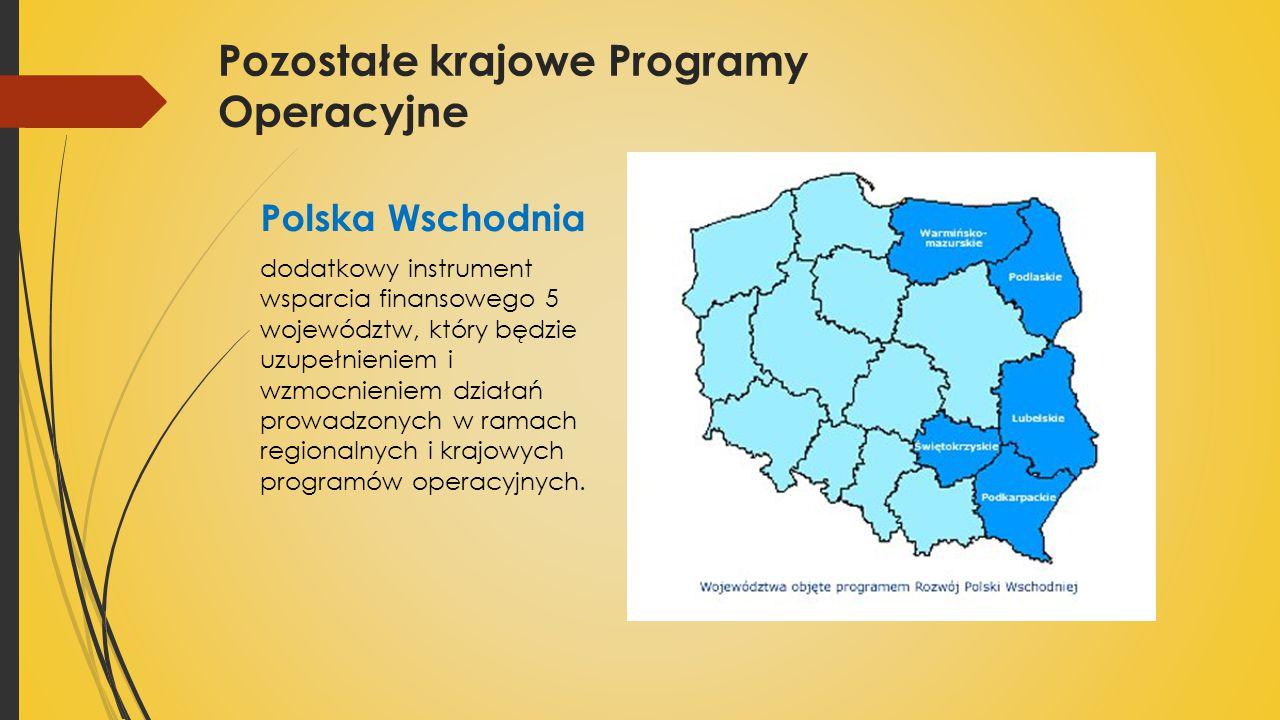 Polska Wschodnia dodatkowy instrument wsparcia finansowego 5 województw, który będzie uzupełnieniem i wzmocnieniem działań prowadzonych w ramach regionalnych i krajowych programów operacyjnych.