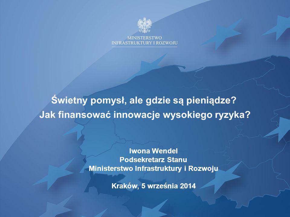 Iwona Wendel Podsekretarz Stanu Ministerstwo Infrastruktury i Rozwoju Kraków, 5 września 2014