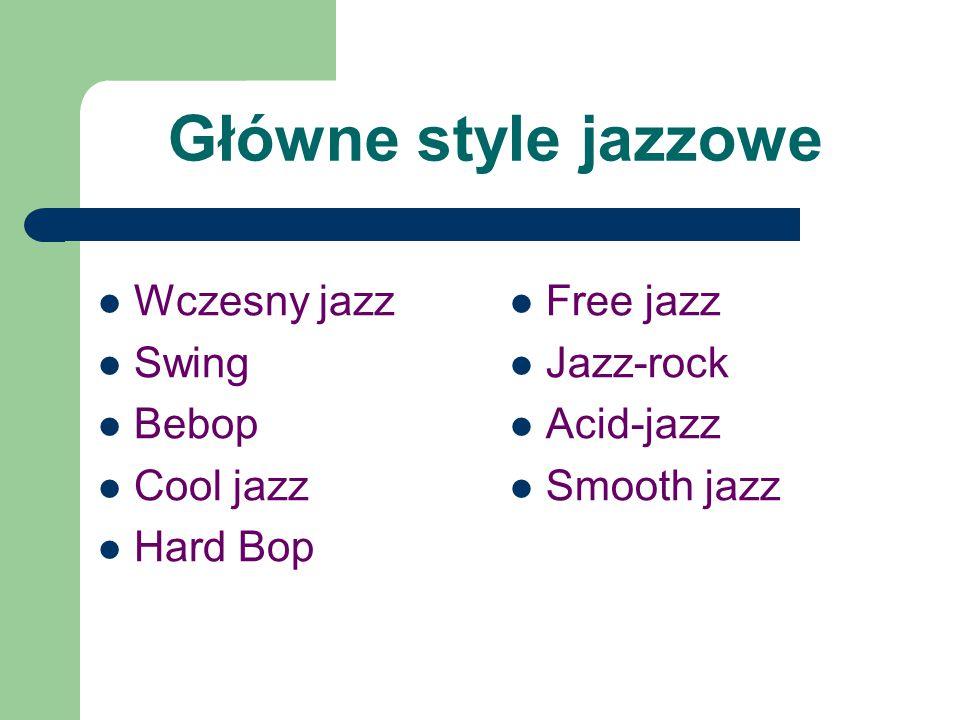 Jazz-rock charakterystyczne elementy: rockowy rytm, użycie elektrycznych instrumentów najwybitniejsze dokonania tego nurtu należą do Milesa Davisa i grupy McLauglina Mahavishnu Orchestra (na zdj.) następne zdjęcie przestawia Czesława Niemena, przedstawiciela tego stylu w Polsce