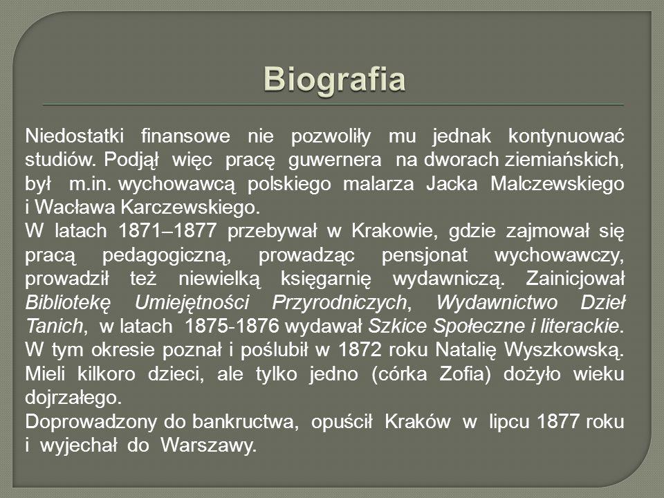 W Warszawie był nauczycielem w kilku szkołach, m.in.