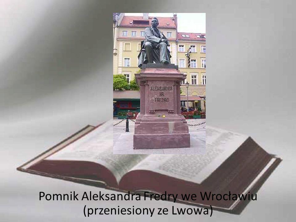 Pomnik Aleksandra Fredry we Wrocławiu (przeniesiony ze Lwowa)