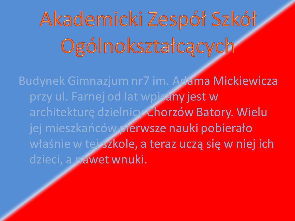 Od dnia 1 września 2008 roku nasze gimnazjum oraz III LO zostały połączone w jedną placówkę -AKADEMICKI ZESPÓŁ SZKÓŁ OGÓLNOKSZTAŁCĄCYCH NR 2 w Chorzowie.