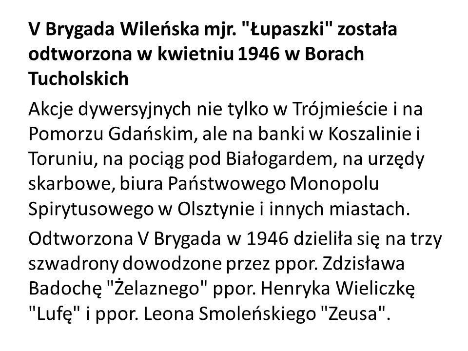 Rok 1945.Kadra V Brygady Wileńskiej AK. Od lewej: ppor.