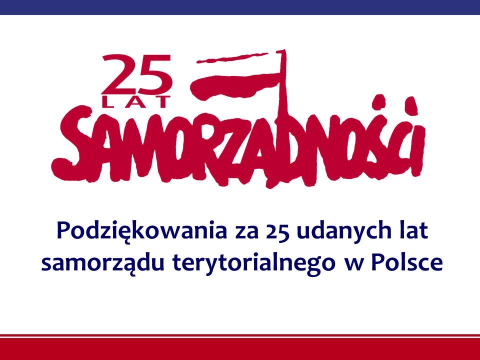 Podziękowania za 25 udanych lat samorządu terytorialnego w Polsce