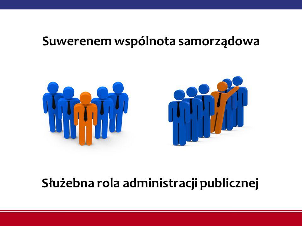 Suwerenem wspólnota samorządowa Służebna rola administracji publicznej