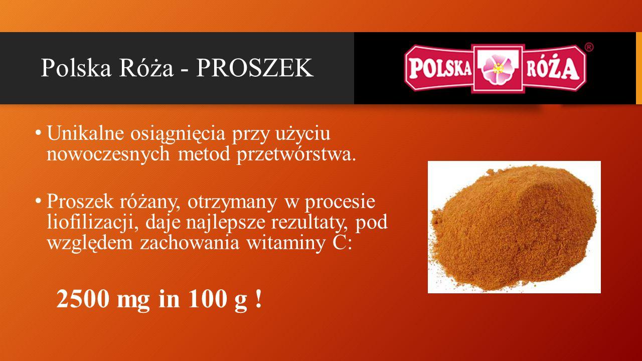 Polska Róża - PROSZEK Unikalne osiągnięcia przy użyciu nowoczesnych metod przetwórstwa. Proszek różany, otrzymany w procesie liofilizacji, daje najlep