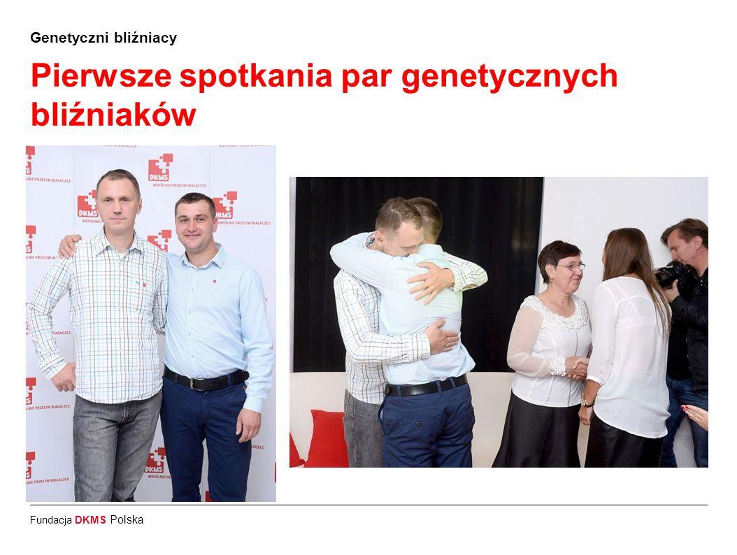 Fundacja DKMS Polska Genetyczni bliźniacy Pierwsze spotkania par genetycznych bliźniaków
