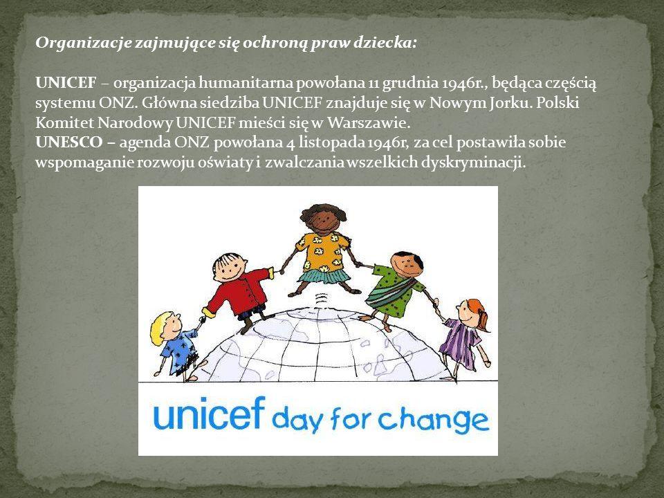Organizacje zajmujące się ochroną praw dziecka: Ogólnopolskie Pogotowie dla Ofiar Przemocy w Rodzinie