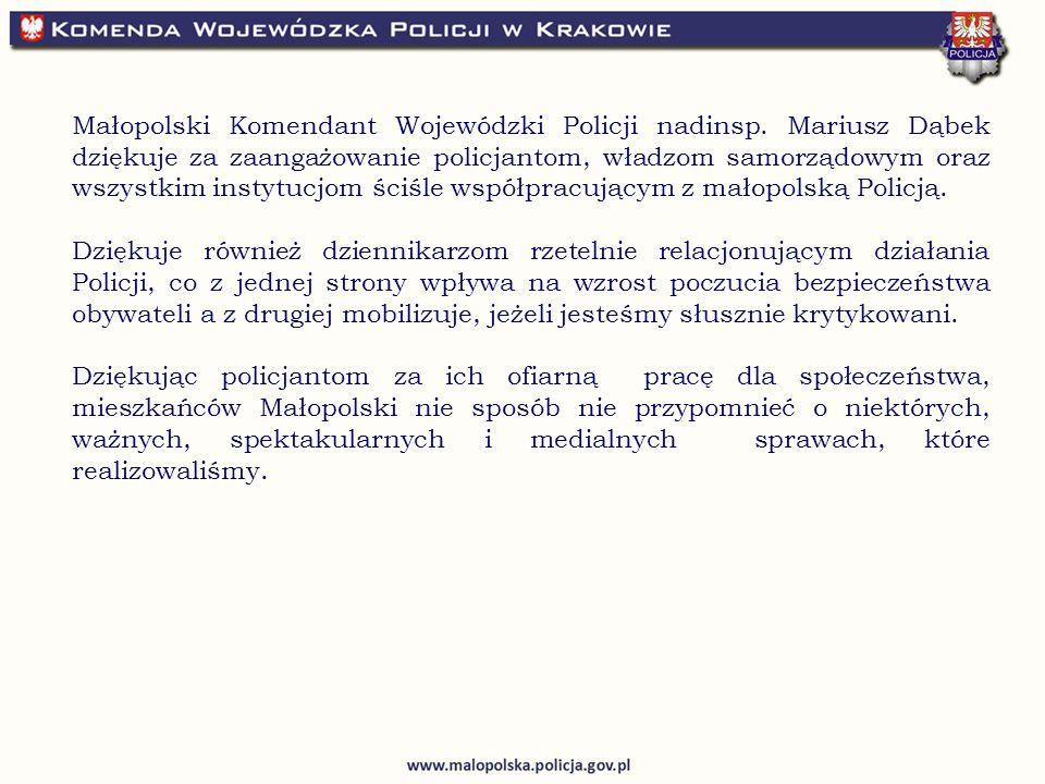 Małopolski Komendant Wojewódzki Policji nadinsp.