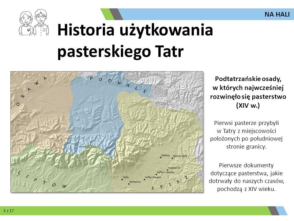 Pierwsi pasterze przybyli w Tatry z miejscowości położonych po południowej stronie granicy. Pierwsze dokumenty dotyczące pasterstwa, jakie dotrwały do