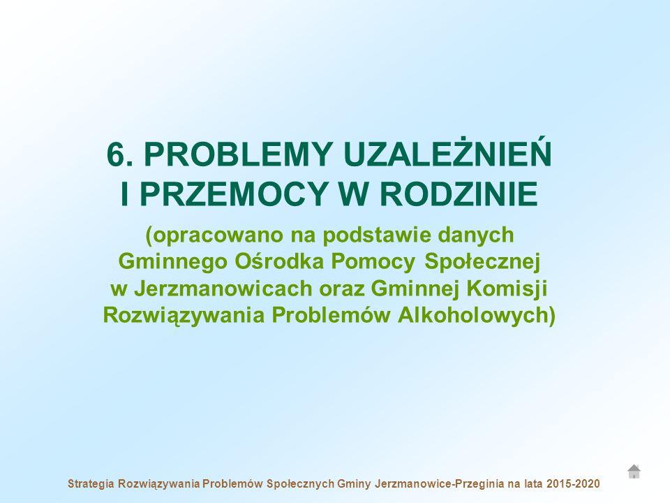 Strategia Rozwiązywania Problemów Społecznych Gminy Jerzmanowice-Przeginia na lata 2015-2020 6. PROBLEMY UZALEŻNIEŃ I PRZEMOCY W RODZINIE (opracowano