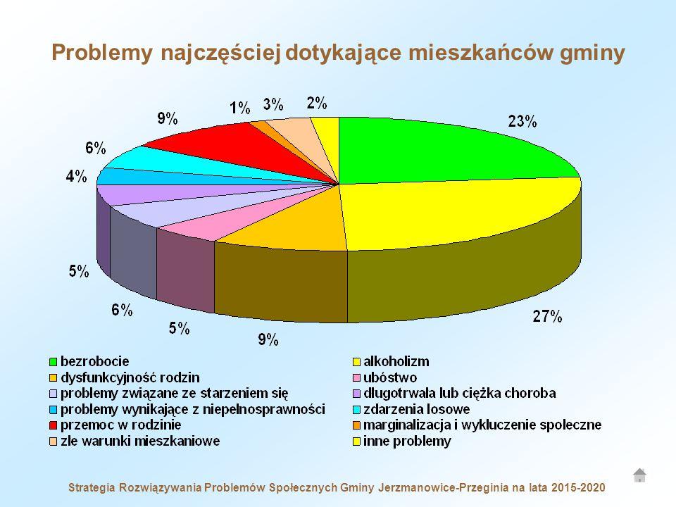 Problemy najczęściej dotykające mieszkańców gminy Strategia Rozwiązywania Problemów Społecznych Gminy Jerzmanowice-Przeginia na lata 2015-2020