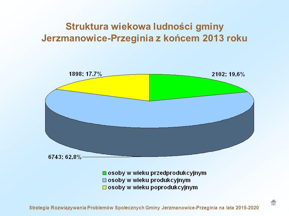 Strategia Rozwiązywania Problemów Społecznych Gminy Jerzmanowice-Przeginia na lata 2015-2020 Struktura wiekowa ludności gminy Jerzmanowice-Przeginia z końcem 2013 roku