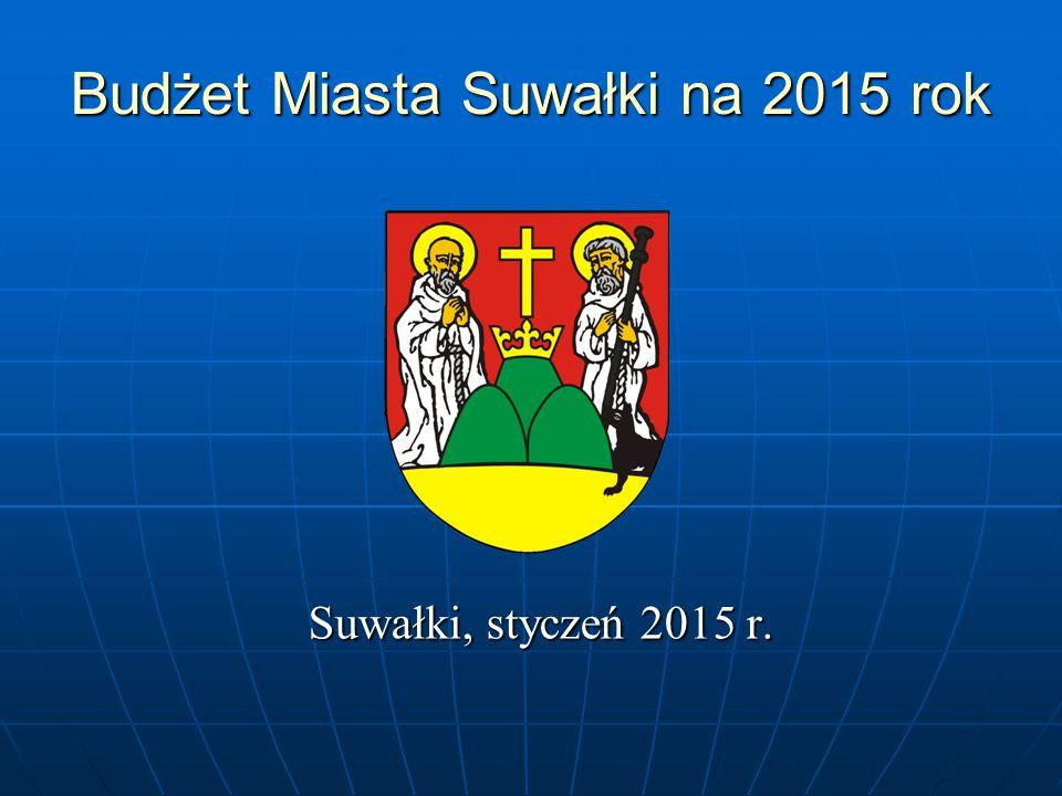 Budżet Miasta Suwałki na 2015 rok Suwałki, styczeń 2015 r.