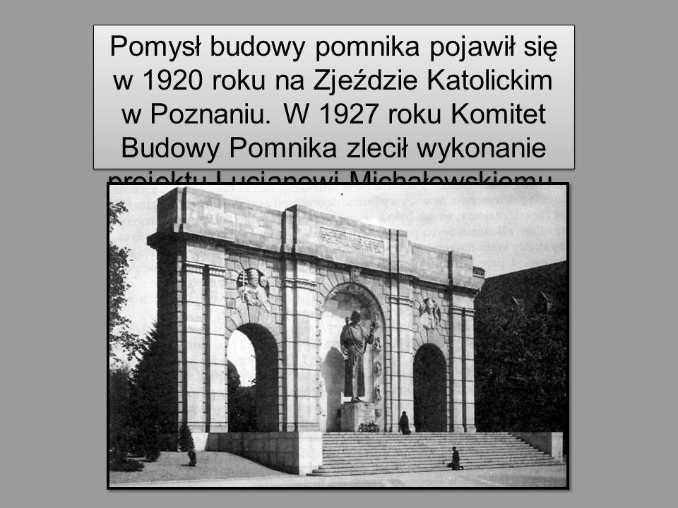 Pomysł budowy pomnika pojawił się w 1920 roku na Zjeździe Katolickim w Poznaniu. W 1927 roku Komitet Budowy Pomnika zlecił wykonanie projektu Lucjanow