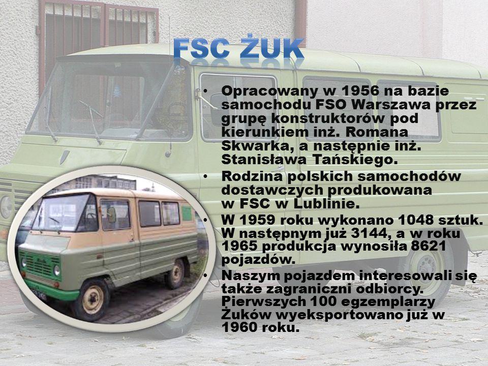 Opracowany w 1956 na bazie samochodu FSO Warszawa przez grupę konstruktorów pod kierunkiem inż. Romana Skwarka, a następnie inż. Stanisława Tańskiego.