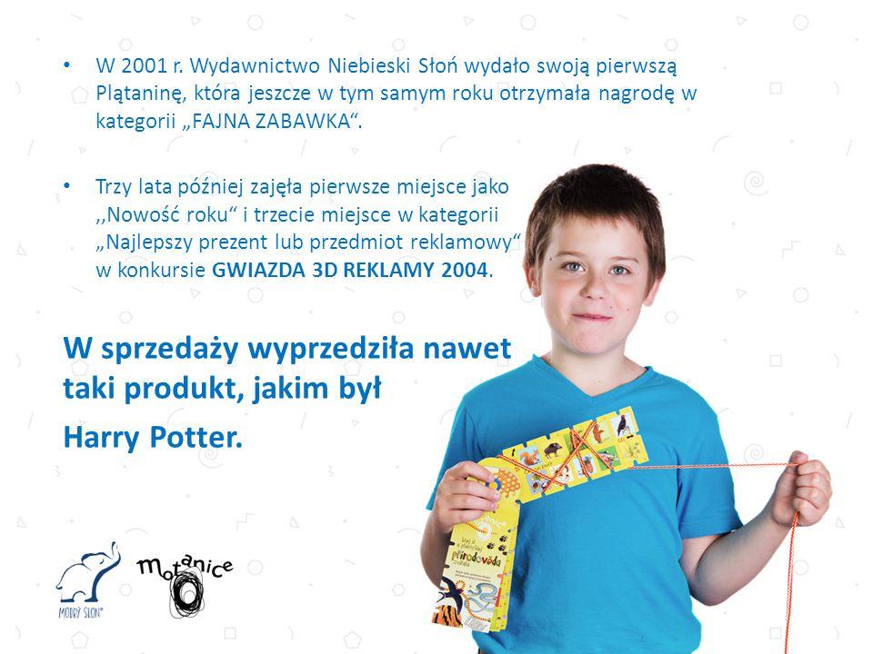"""W 2001 r. Wydawnictwo Niebieski Słoń wydało swoją pierwszą Plątaninę, która jeszcze w tym samym roku otrzymała nagrodę w kategorii """"FAJNA ZABAWKA"""". Tr"""