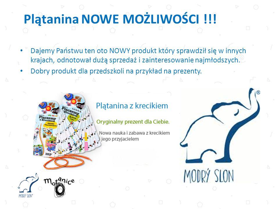Dajemy Państwu ten oto NOWY produkt który sprawdził się w innych krajach, odnotował dużą sprzedaż i zainteresowanie najmłodszych. Dobry produkt dla pr