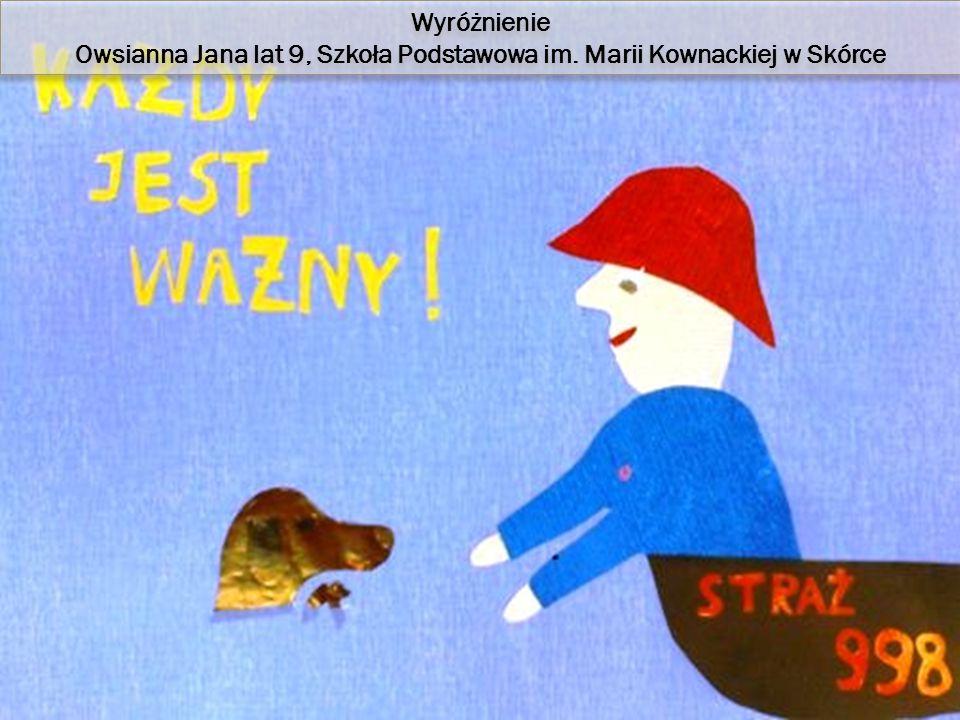 Wyróżnienie Owsianna Jana lat 9, Szkoła Podstawowa im.