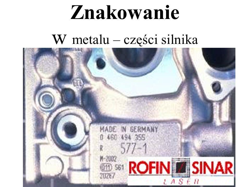 Znakowanie w metalu – części silnika