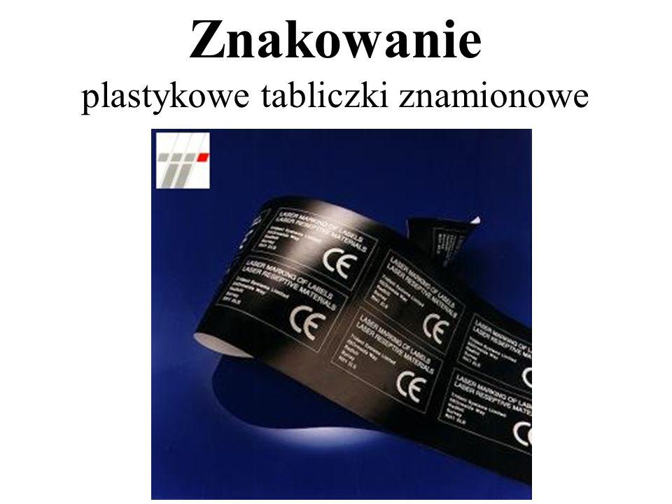 Znakowanie plastykowe tabliczki znamionowe