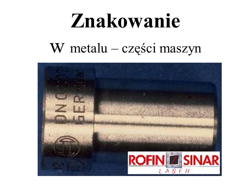 Znakowanie w metalu – części maszyn