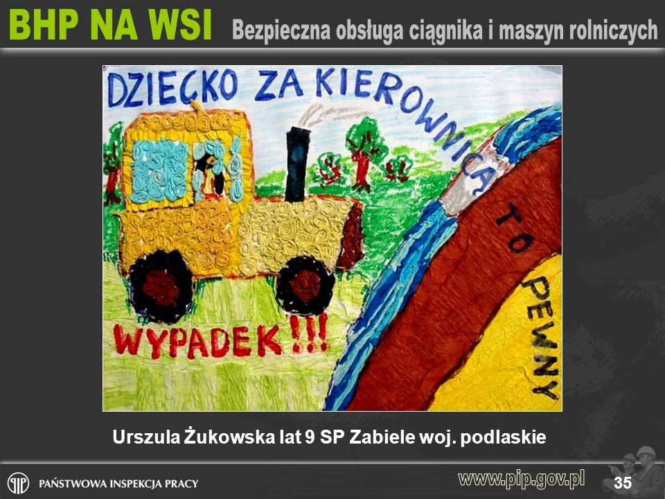 35 Urszula Żukowska lat 9 SP Zabiele woj. podlaskie