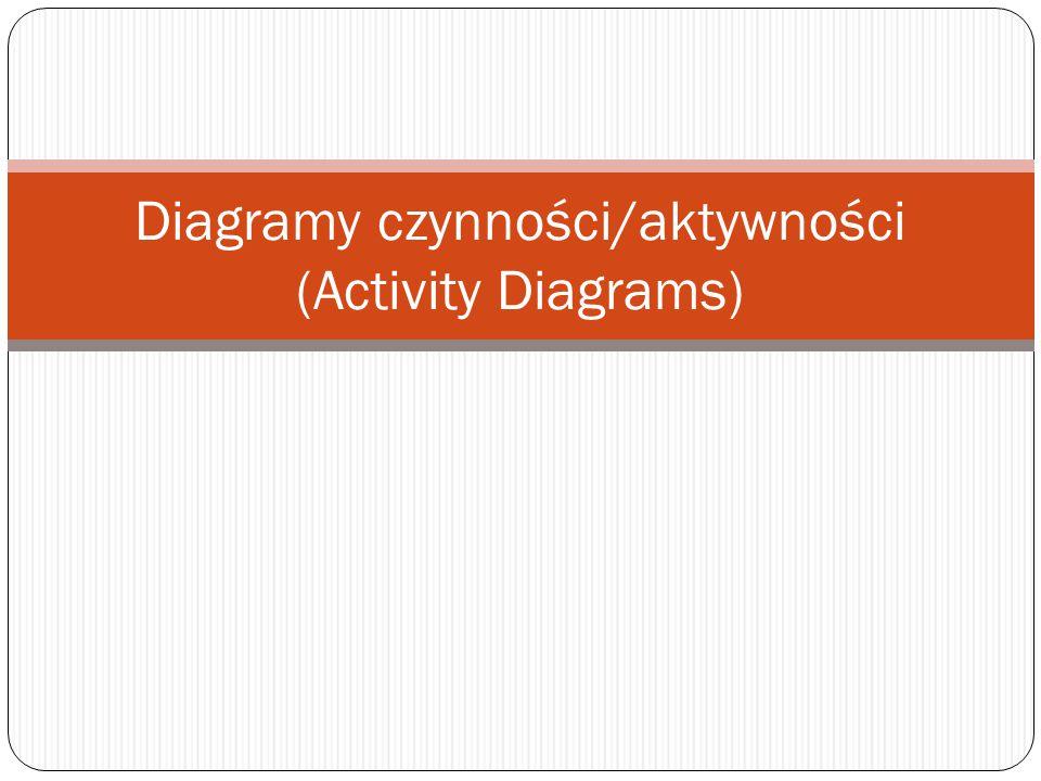 Diagramy czynności/aktywności (Activity Diagrams)
